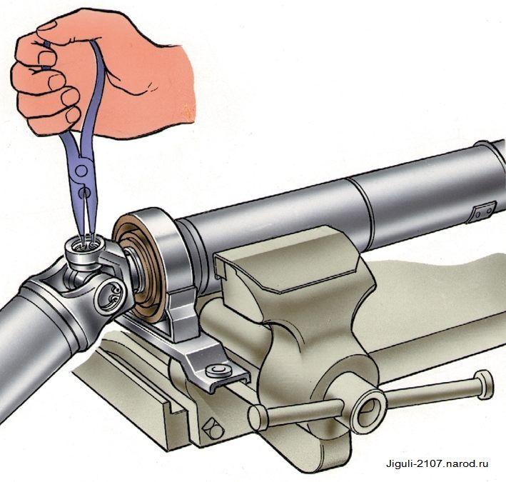 Замена крестовины карданного вала на Ваз 2107