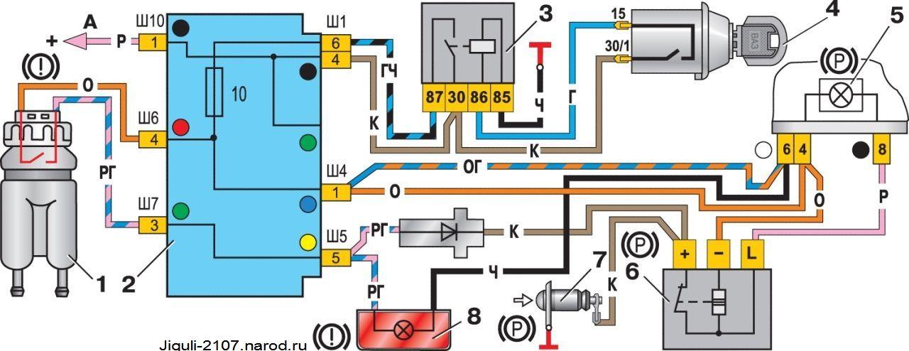 Схема соединений контрольных